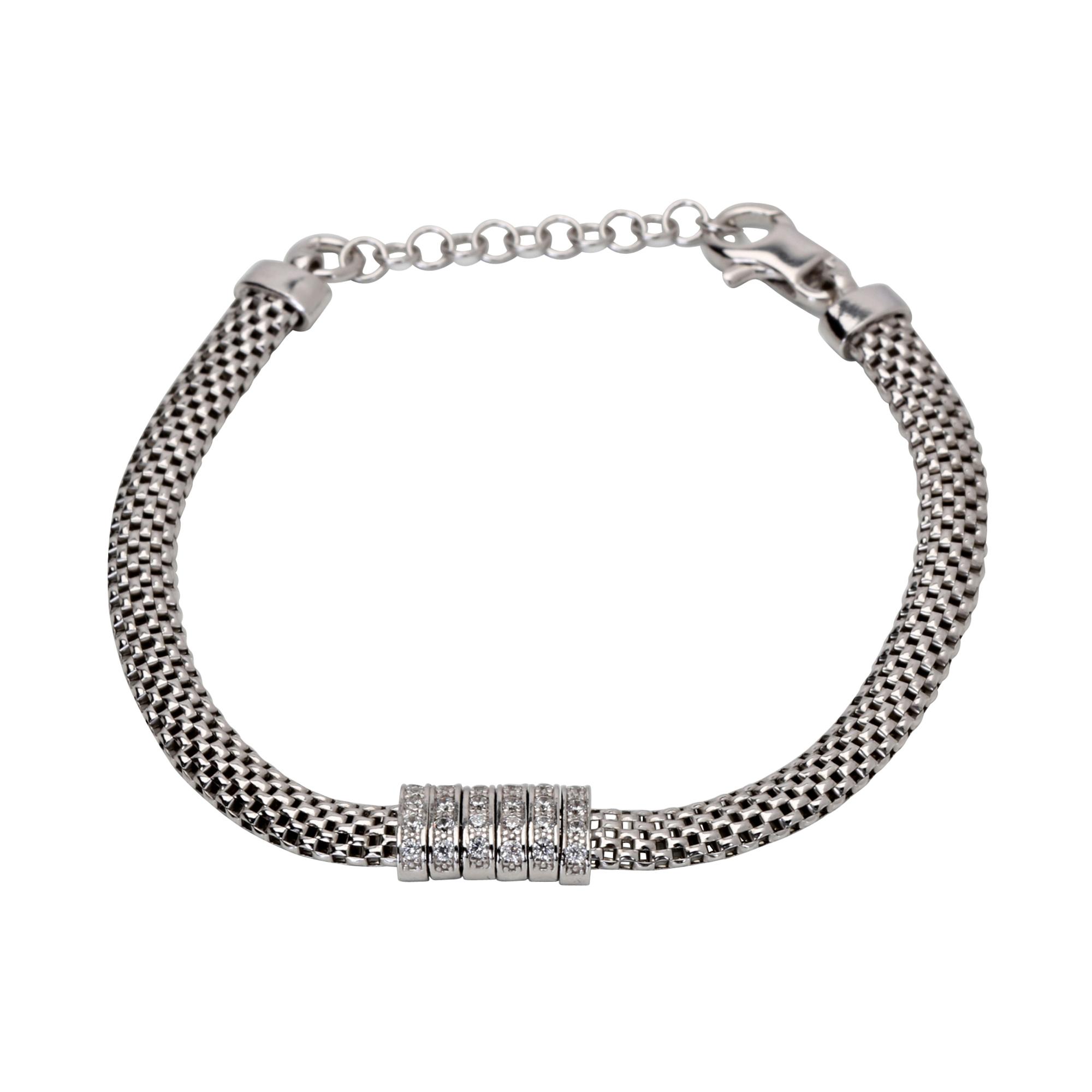 11b9d73a12e70c Details about Links of London Sterling Silver & Cubic Zirconia Cleo Element  Bracelet