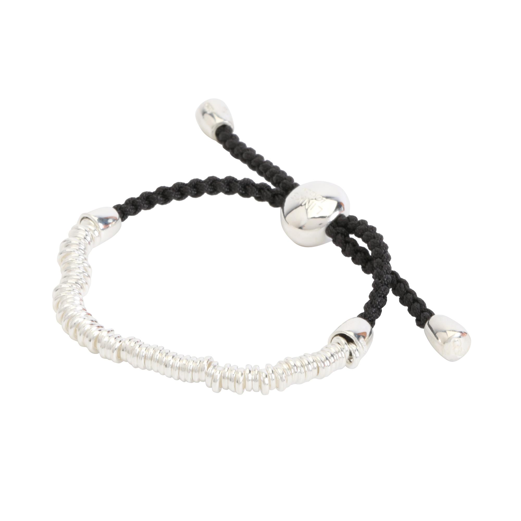 707a505b1 ... uk links of london womens sterling silver sweetie black friendship  bracelet 24c2d 713ba