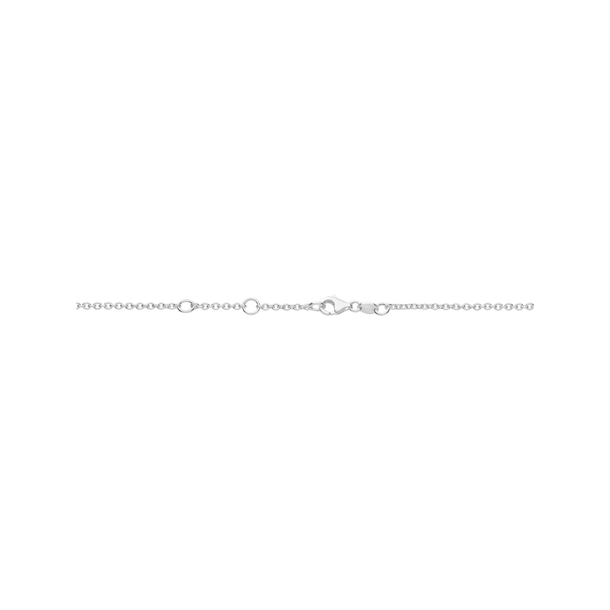 Links of London Womens Rose Gold Vermeil Outlet Linked Oval Necklace