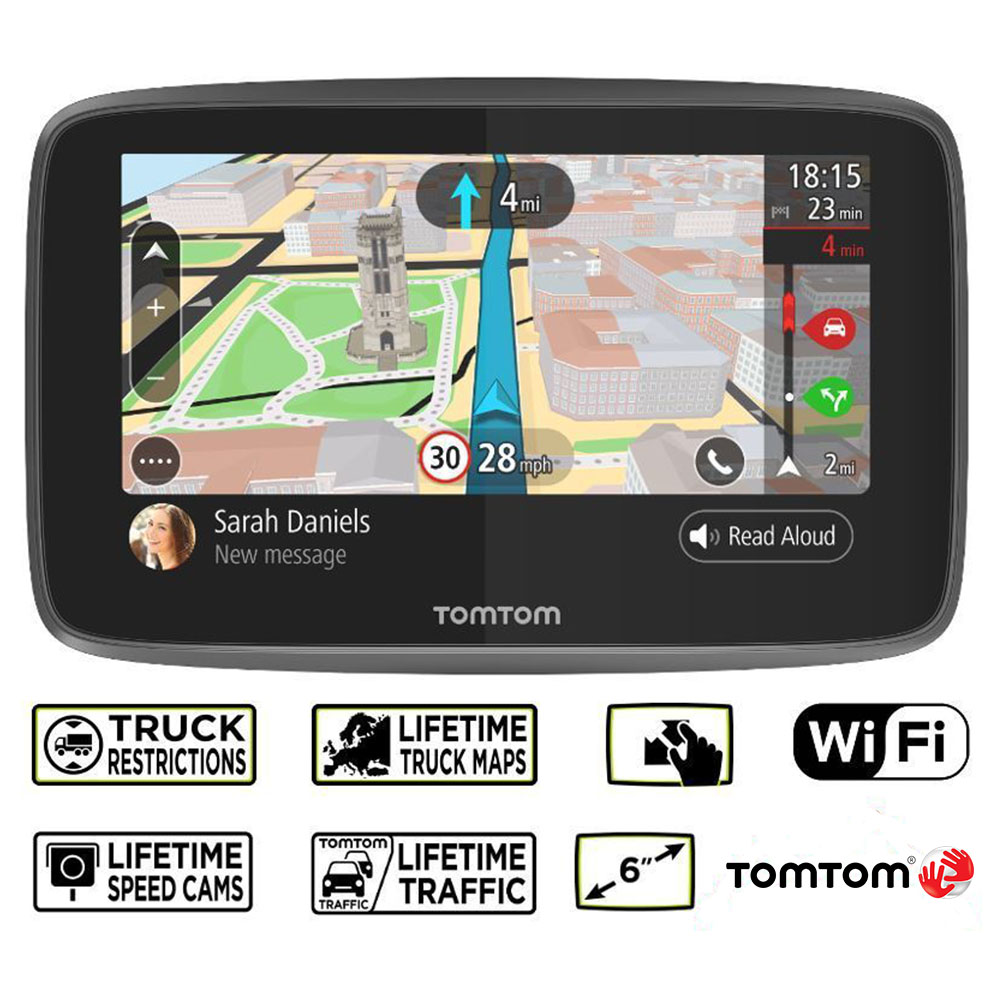 tomtom go professional 6250 trucker truck bus van lifetime traffic map updates ebay. Black Bedroom Furniture Sets. Home Design Ideas