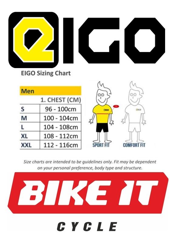New Mens Eigo Logic Long Sleeve Cycling Sports Jersey//Top Red//Black