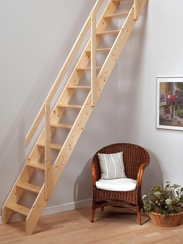 Sentinel TB Davies Madrid Wooden Loft Stair U0026 1 X Handrail Kit   FSC  Certified Wood