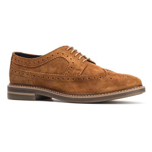 Base-London-Turner-Mens-Brown-Suede-Leather-Country-Brogues-Shoes-Size-8-11 thumbnail 11