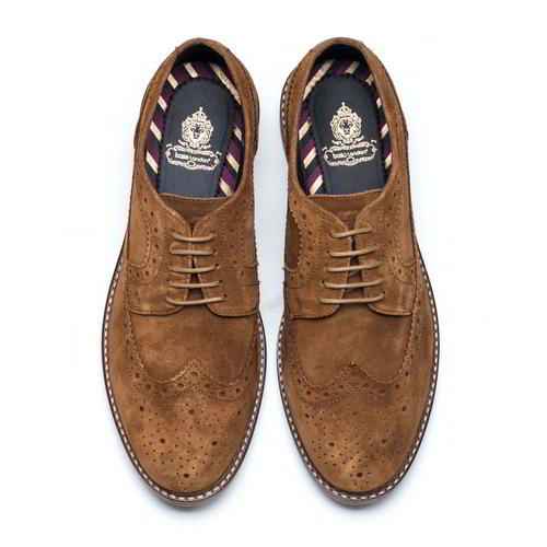 Base-London-Turner-Mens-Brown-Suede-Leather-Country-Brogues-Shoes-Size-8-11 thumbnail 14