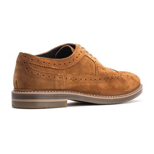 Base-London-Turner-Mens-Brown-Suede-Leather-Country-Brogues-Shoes-Size-8-11 thumbnail 7