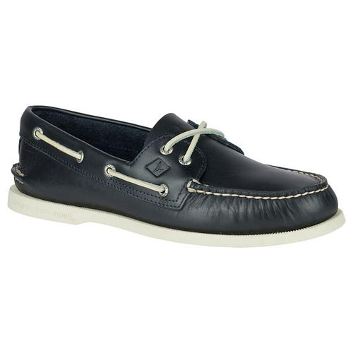 Azul Cuero Cubierta Barco Zapatos Talla