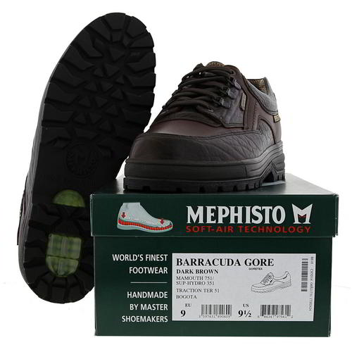 Mephisto Barracuda Mens Leather Waterproof GTX Walking Trail Shoes Size 8-13