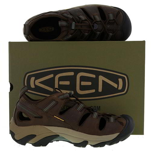 Keen-Arroyo-II-Mens-Waterproof-Walking-Hiking-Water-Sandals-Brown-Size-8-14 miniatura 10