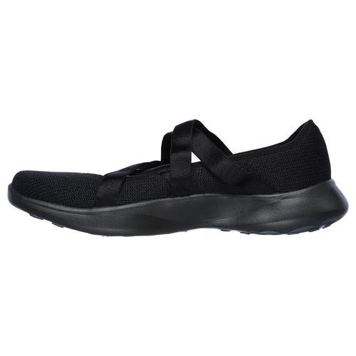 all black memory foam shoes