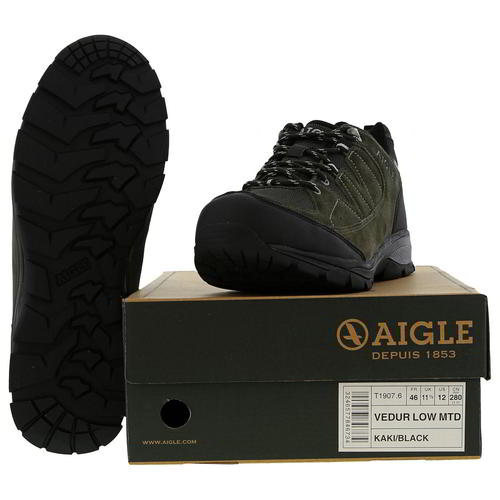 Aigle-Mens-Waterproof-Walking-Shoes-Vedur-Low-Green-Hiking-Trainers-Size-8-11 thumbnail 11