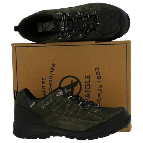 Aigle-Mens-Waterproof-Walking-Shoes-Vedur-Low-Green-Hiking-Trainers-Size-8-11 thumbnail 18