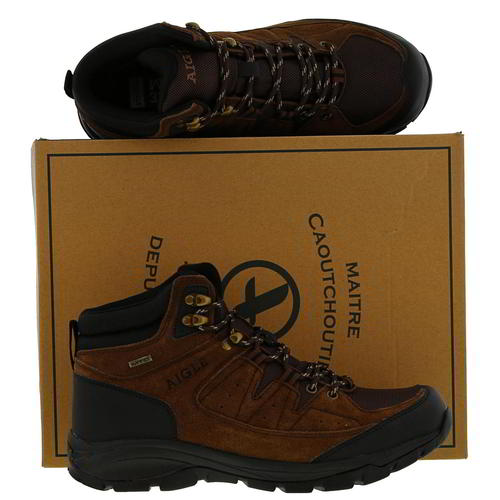 Aigle-Mens-Waterproof-Walking-Boots-Vedur-Mid-Brown-Hiking-Shoes-Size-8-11 thumbnail 10