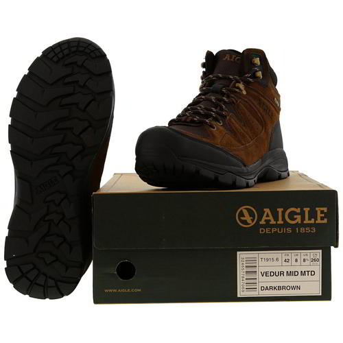 Aigle-Mens-Waterproof-Walking-Boots-Vedur-Mid-Brown-Hiking-Shoes-Size-8-11 thumbnail 12