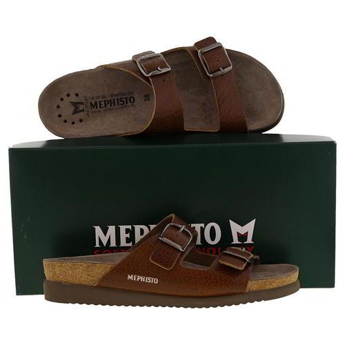 Mephisto Harmony Womens Ladies 2 Strap Leather Walking Slide Sandals Size 4-8