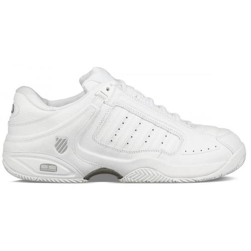 White Leather Tennis Trainers Shoes UK