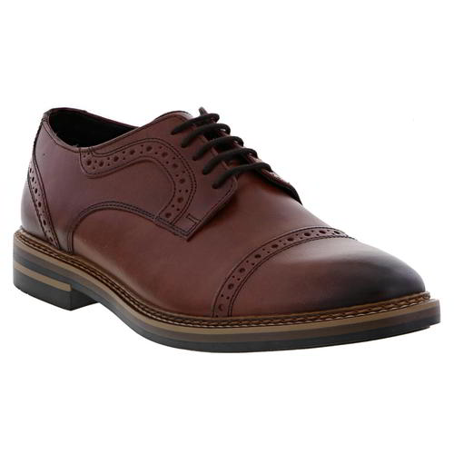 Base London New Mens Leather Brown Brogues Lace Casual Formal Shoes UK Size 6