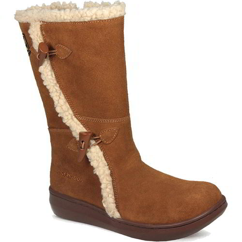 WOMENS TAN FULLY FUR LINED QUILTED MID CALF FLAT WINTER ZIP BOOTS LADIES SIZE