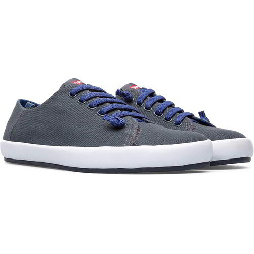 Camper 18869-069 Peu Rambla Mens Lace Up Grey Canvas Trainers Shoes Size UK 7-12