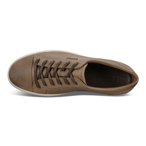 MENS CLARKS CJ7 Soft Tread Tan leather