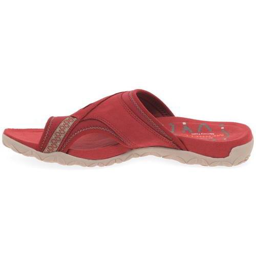 Merrell-Terran-Post-II-Womens-Ladies-Toe-Post-Leather-Walking-Sandals-Red-4-8 thumbnail 9
