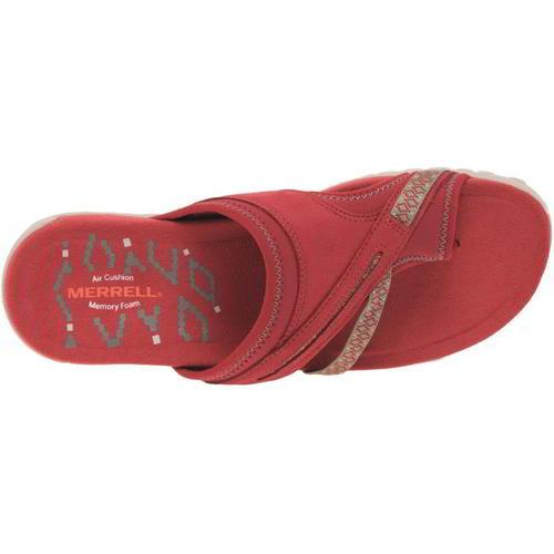 Merrell-Terran-Post-II-Womens-Ladies-Toe-Post-Leather-Walking-Sandals-Red-4-8 thumbnail 12