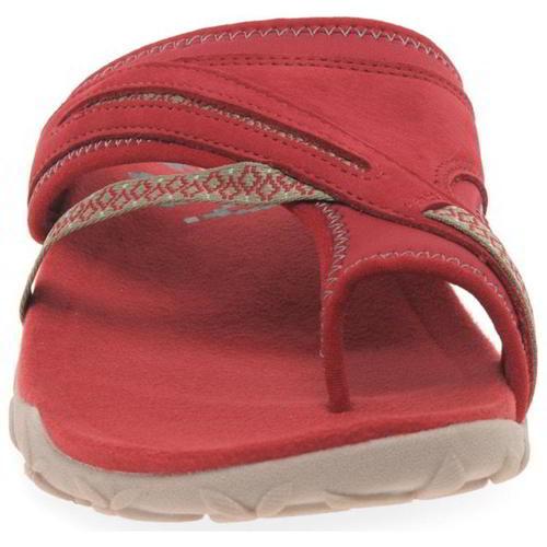Merrell-Terran-Post-II-Womens-Ladies-Toe-Post-Leather-Walking-Sandals-Red-4-8 thumbnail 16