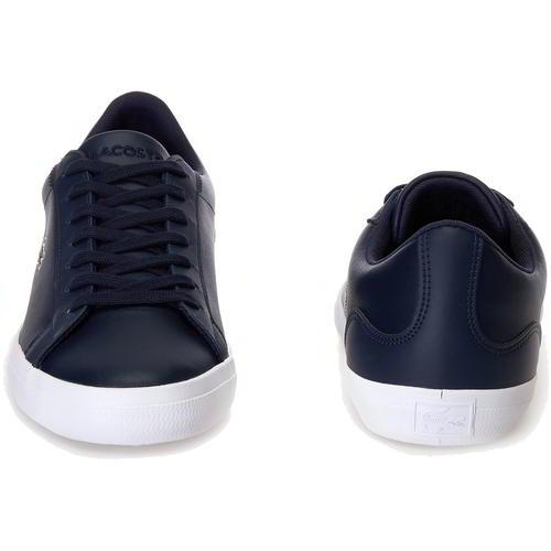 Lacoste Lerond BL 1 Mens Blue Leather Lace Up Trainers Shoes Size 7-12