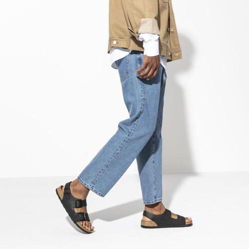 thumbnail 14 - Birkenstock Milano Regular Fit Mens Womens Black Sandals Size 3.5-14.5
