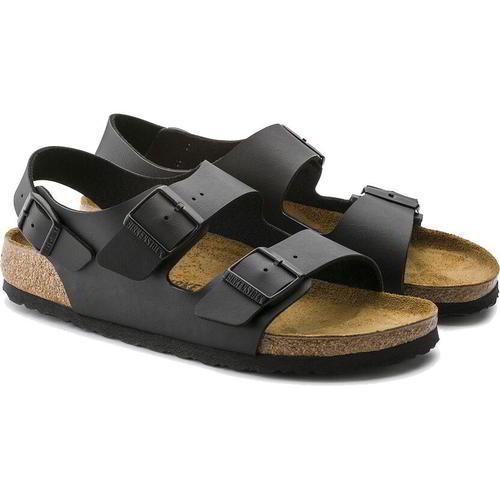 thumbnail 15 - Birkenstock Milano Regular Fit Mens Womens Black Sandals Size 3.5-14.5