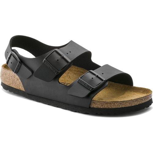 thumbnail 18 - Birkenstock Milano Regular Fit Mens Womens Black Sandals Size 3.5-14.5