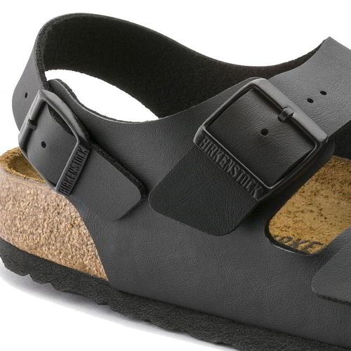 thumbnail 19 - Birkenstock Milano Regular Fit Mens Womens Black Sandals Size 3.5-14.5