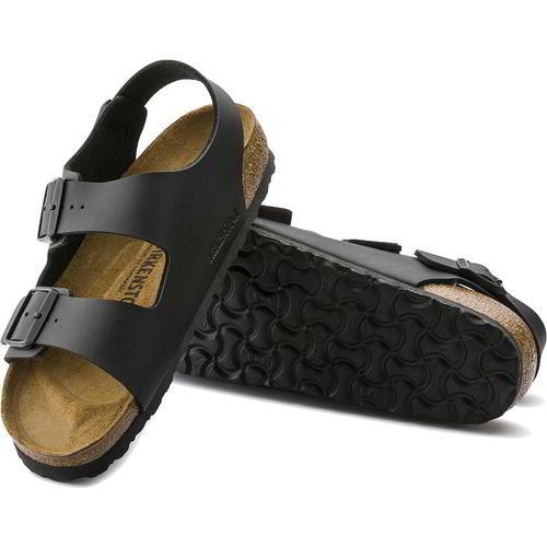 thumbnail 17 - Birkenstock Milano Regular Fit Mens Womens Black Sandals Size 3.5-14.5