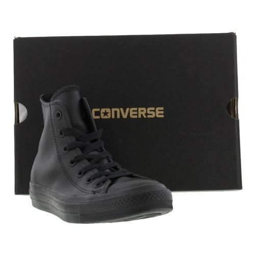 Converse All Star High Top Leather Mens Womens Ladies Trainers Shoes Size 3-13