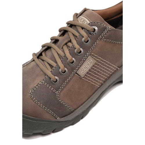 Keen-Austin-Mens-Brown-Leather-Walking-Shoes-Size-UK-8-13 miniatura 12