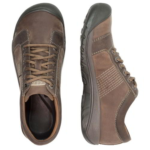 Keen-Austin-Mens-Brown-Leather-Walking-Shoes-Size-UK-8-13 miniatura 14