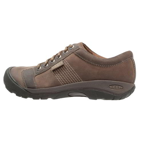 Keen-Austin-Mens-Brown-Leather-Walking-Shoes-Size-UK-8-13 miniatura 13