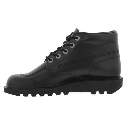 Kickers Kick Hi Core Womens Ladies All Black Chukka Ankle Boots Size UK 3-8