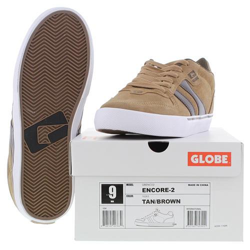 Globe Encore-2 Skate Shoes Trainers Tan Brown