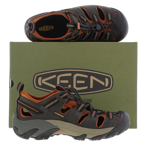 Keen-Arroyo-II-Mens-Dark-Brown-Waterproof-Walking-Hiking-Water-Sandals-Size-8-14 miniatura 8