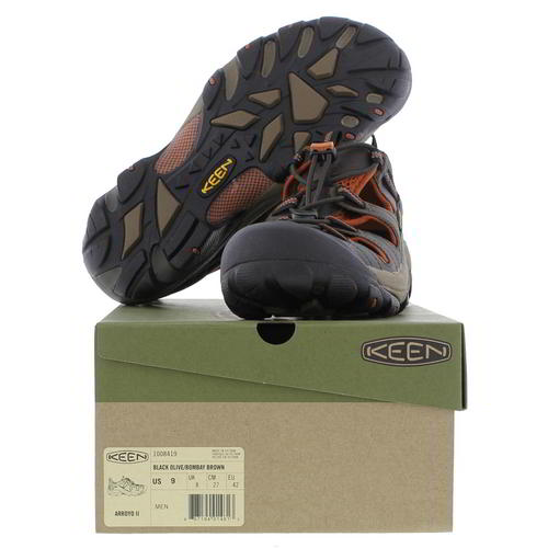 Keen-Arroyo-II-Mens-Dark-Brown-Waterproof-Walking-Hiking-Water-Sandals-Size-8-14 miniatura 15