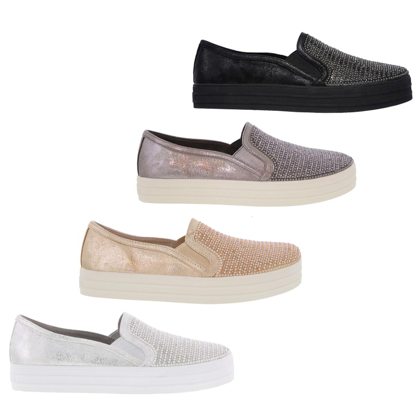 a4e89ea6aef9 Details about Skechers Double Up Shiny Dancer Womens Ladies Slip On Chunky  Trainers Shoes