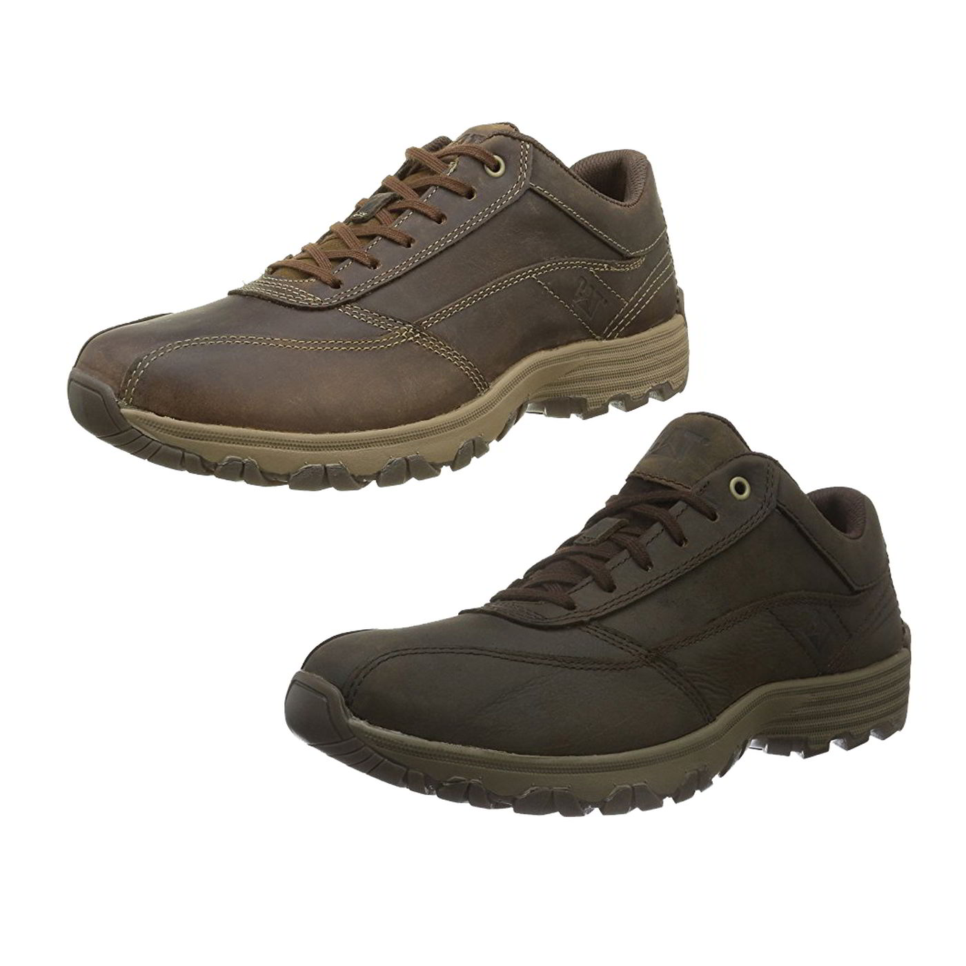 eb0e734704c Détails sur Caterpillar EON CAT homme cuir marron large Fit Baskets  Chaussures Taille UK 7-12- afficher le titre d origine