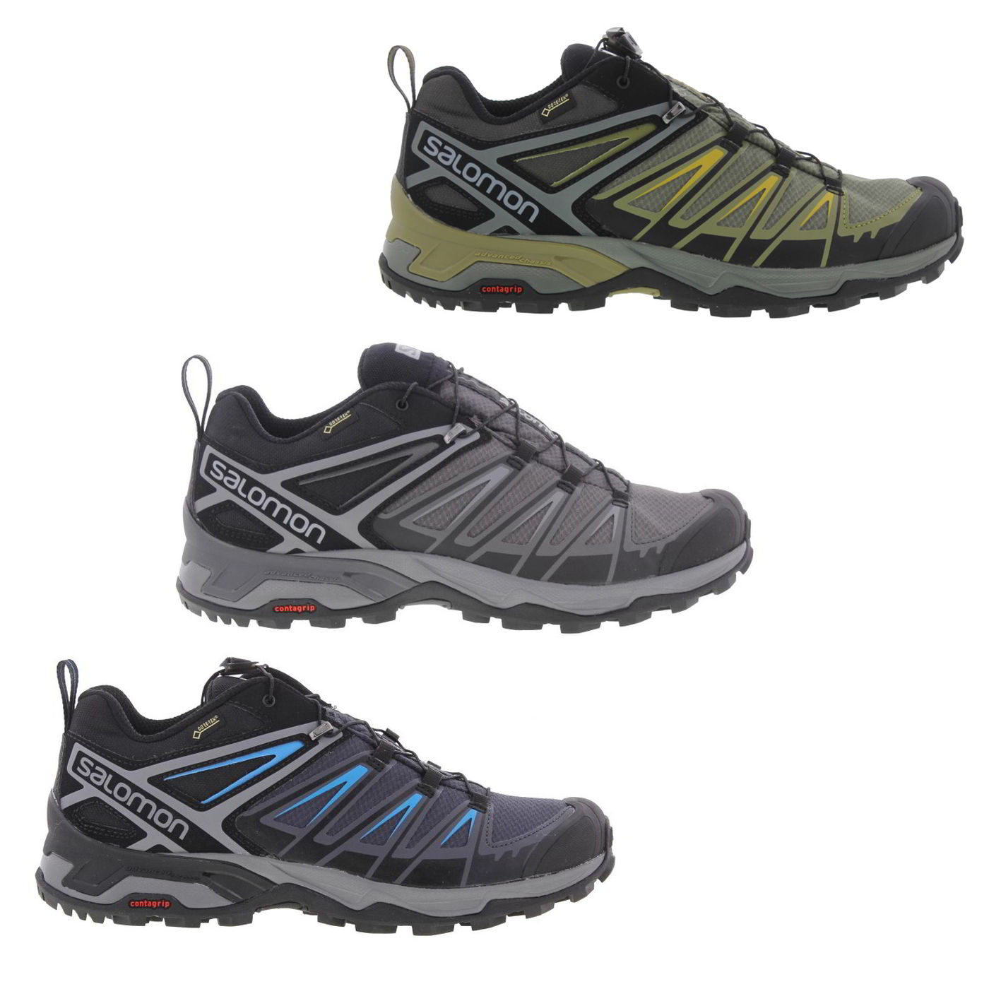 7b26285efce Salomon X Ultra 3 Gtx Mens Waterproof Walking Hiking Trainers Shoes ...