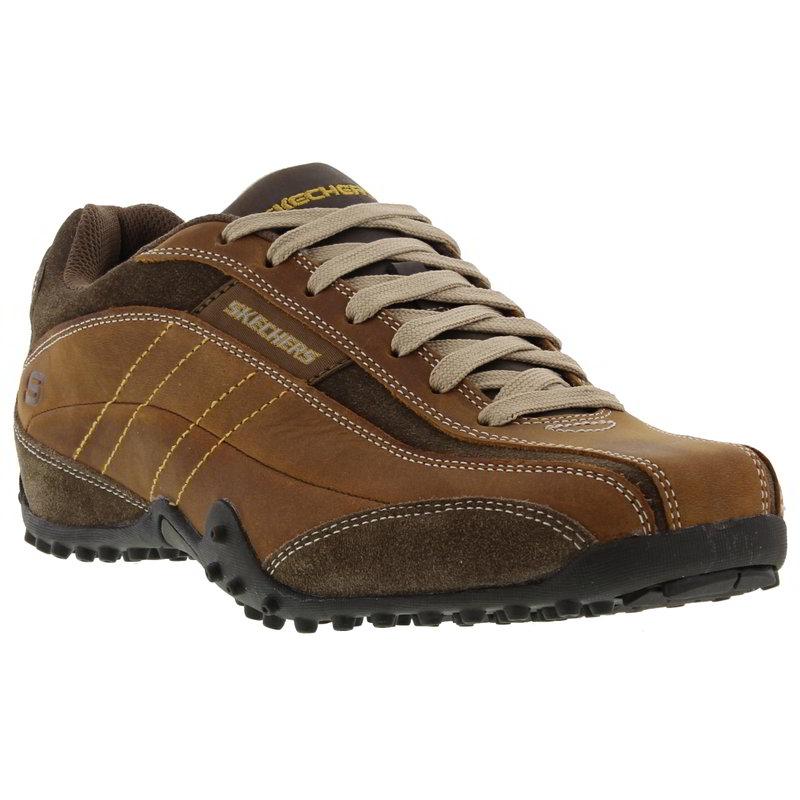 9a6c703b11d1 Detalles de Skechers Para Hombre Imperial urbano realizar un seguimiento de  Cuero Con Cordones Zapatillas Zapatos Talla 8-12- ver título original