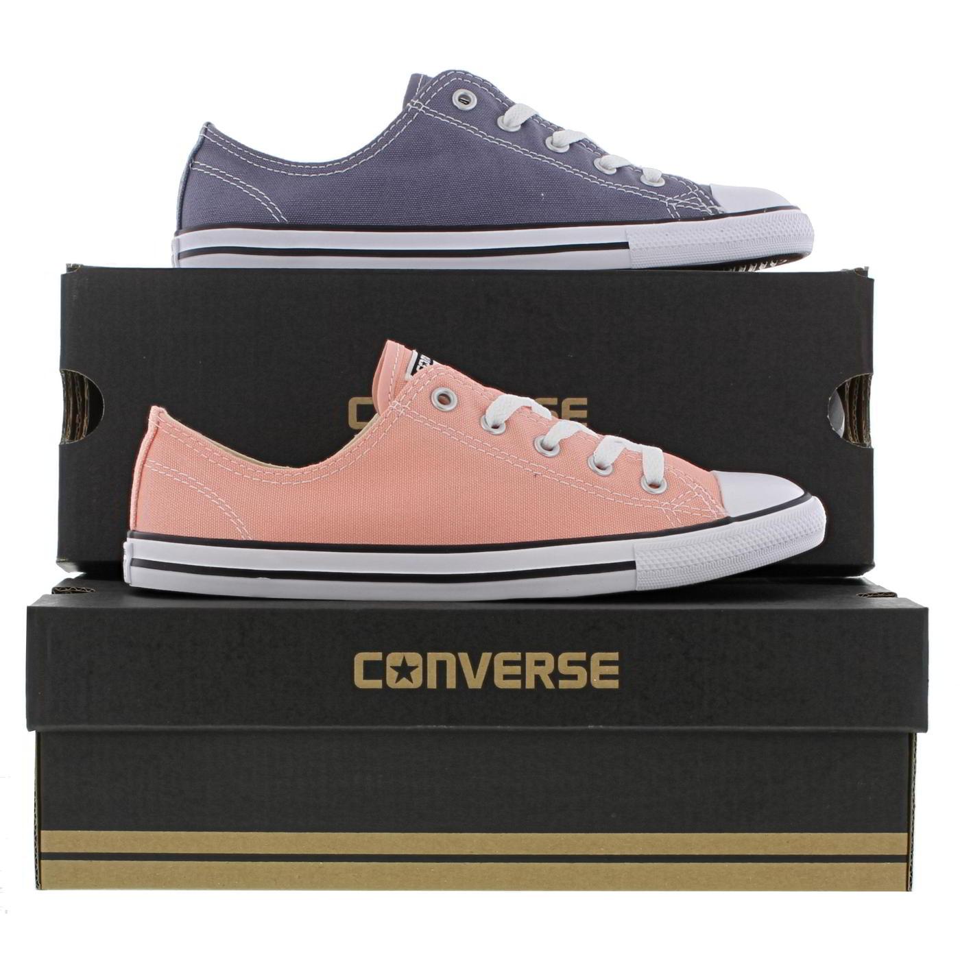 92aec9e6e4b2 Détails sur Converse All Star Dainty Oxford Femme Femmes Gris Rose Baskets  Chaussures Taille 4-8- afficher le titre d origine
