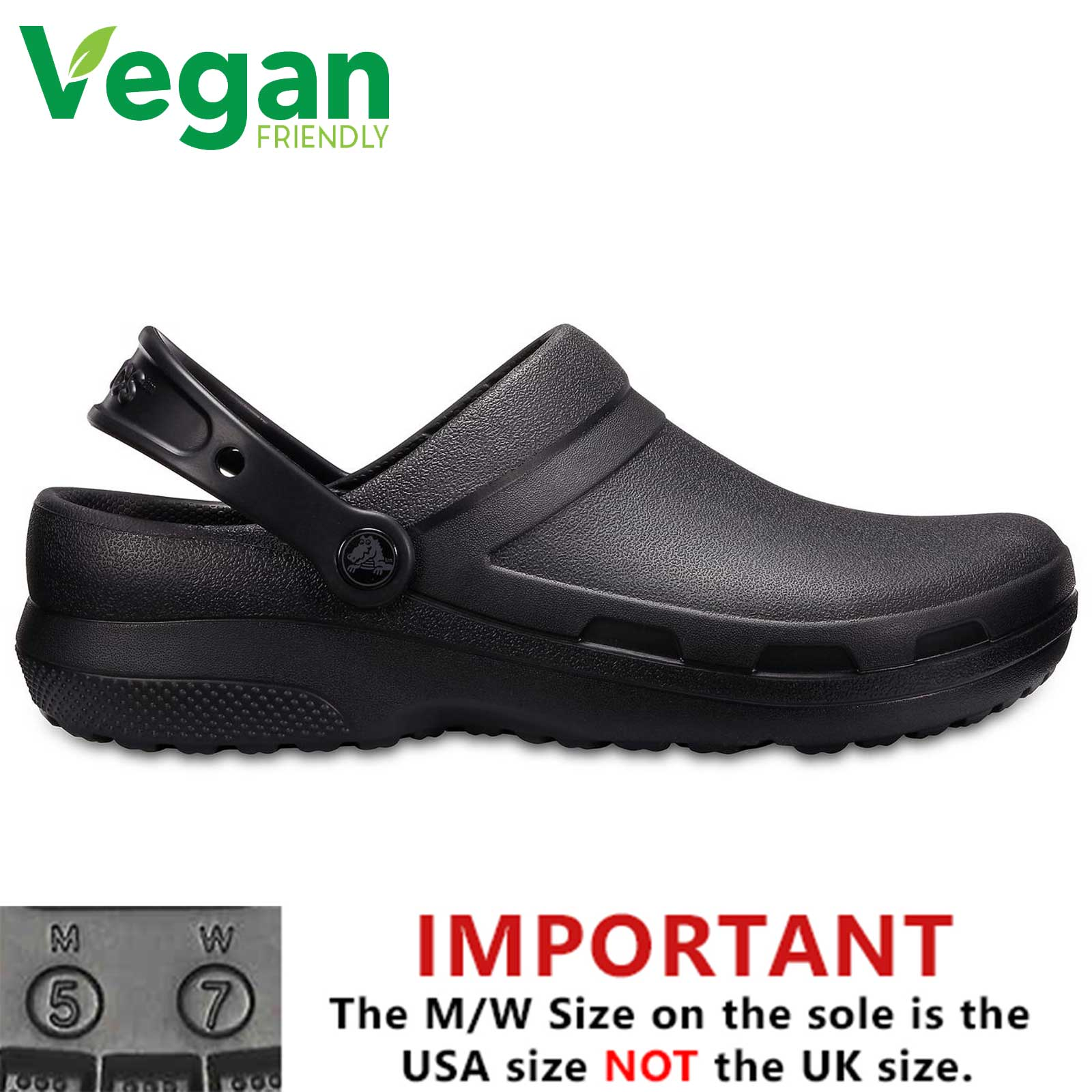 906b110fc4fd2 Details about Crocs Specialist II Mens Womens Ladies Medical Chef Work  Clogs Vegan Shoes Size