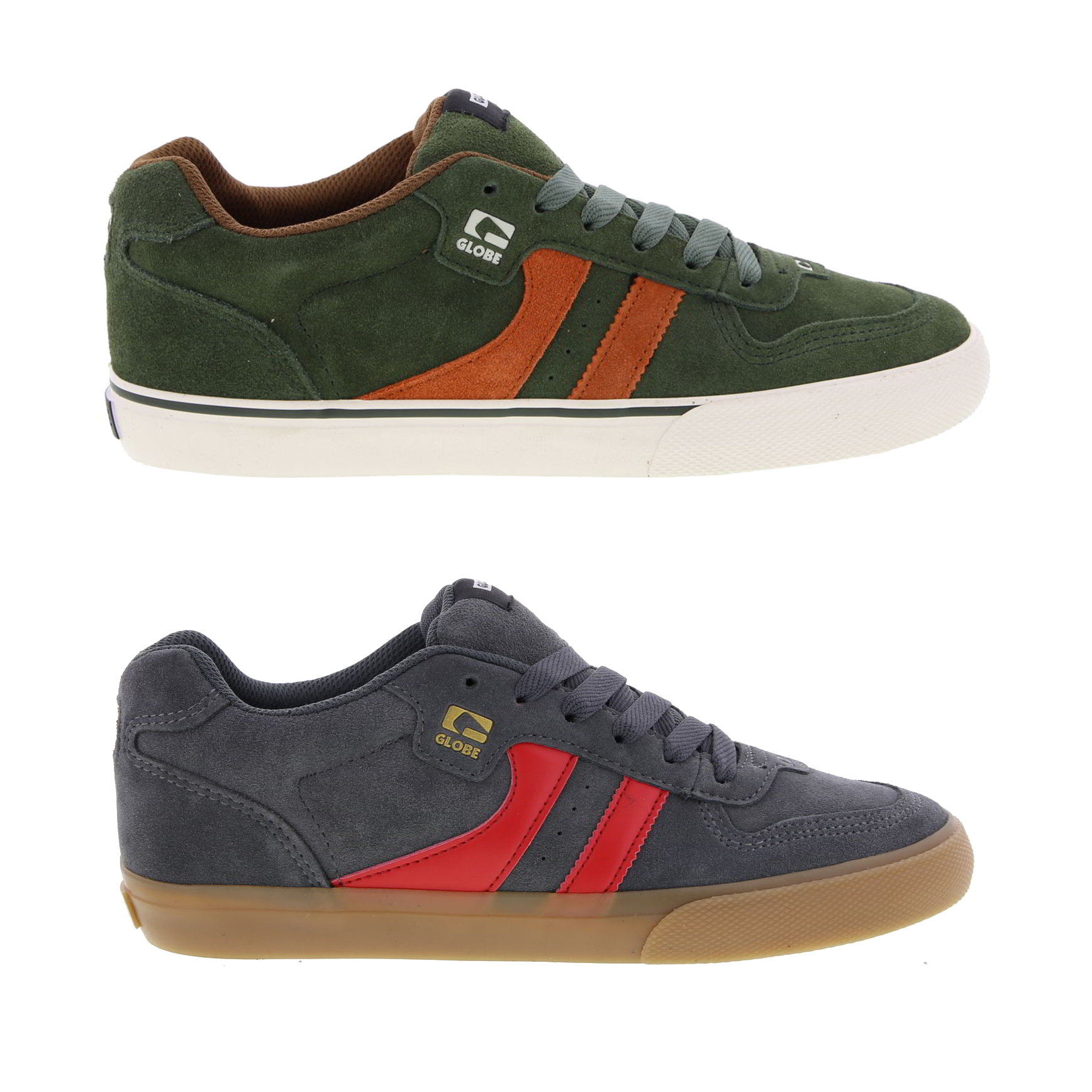 3106428e9 Details about Globe Encore 2 Mens Suede Leather Skate Shoes Trainers Size  8-13