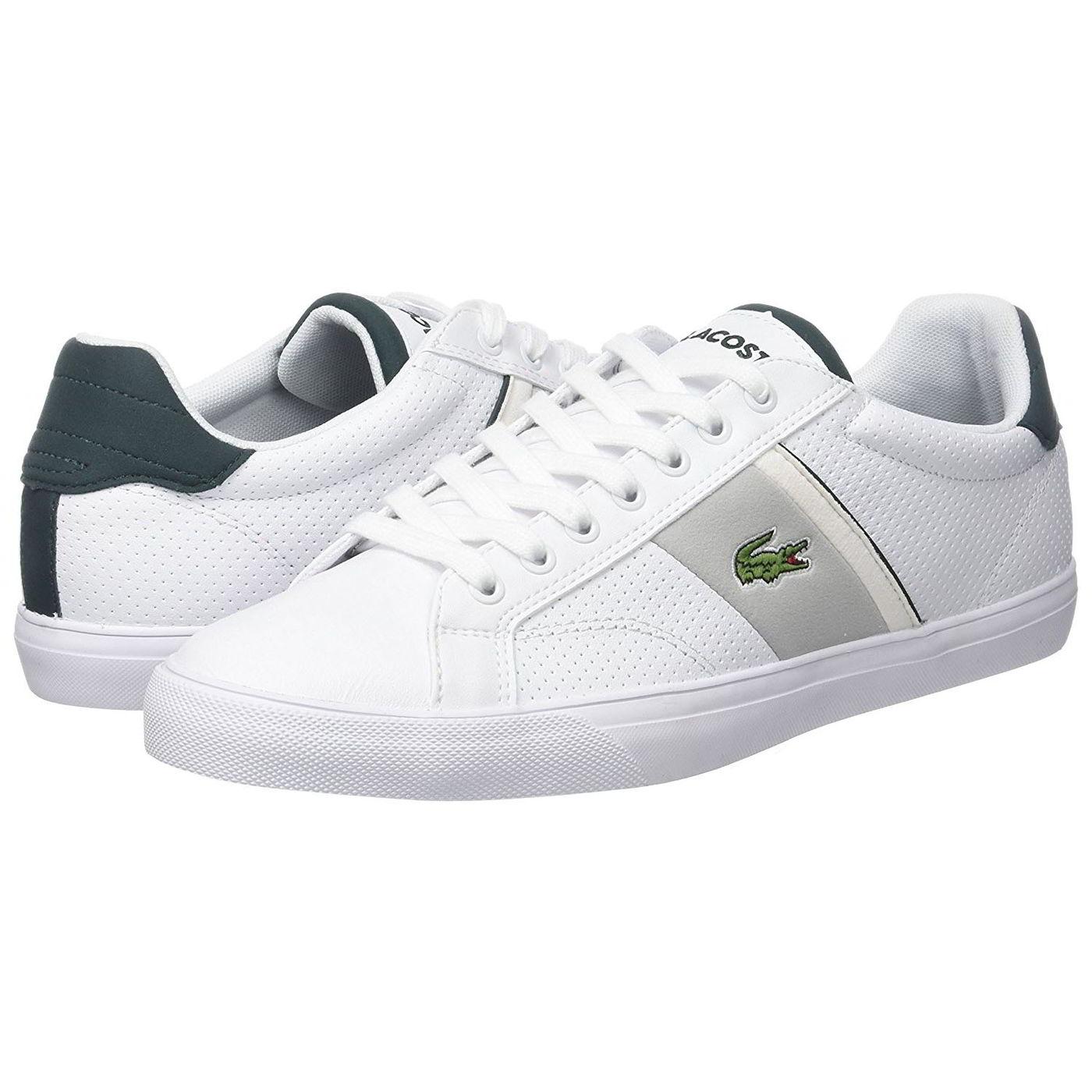 e66f8a2a2b5 Detalles de Lacoste Cornamusa 118 para hombres Cuero Blanco Con Cordones  Zapatillas Zapatos Talla Uk 7-12- ver título original