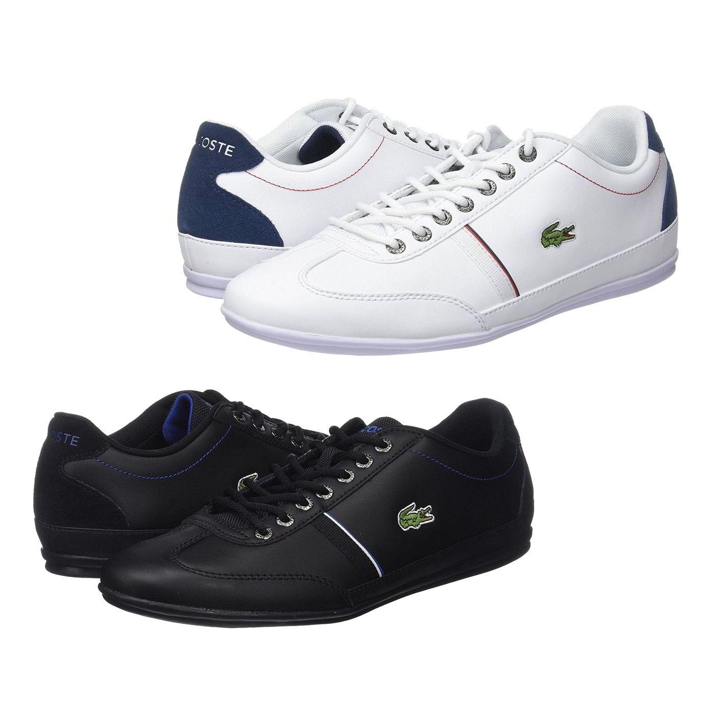 9a99faa3e4c90e Detalles de Lacoste Misano Sport 118 1 para Hombre de Cuero Blanco Azul  Tenis Shoes Size UK 7-12- ver título original
