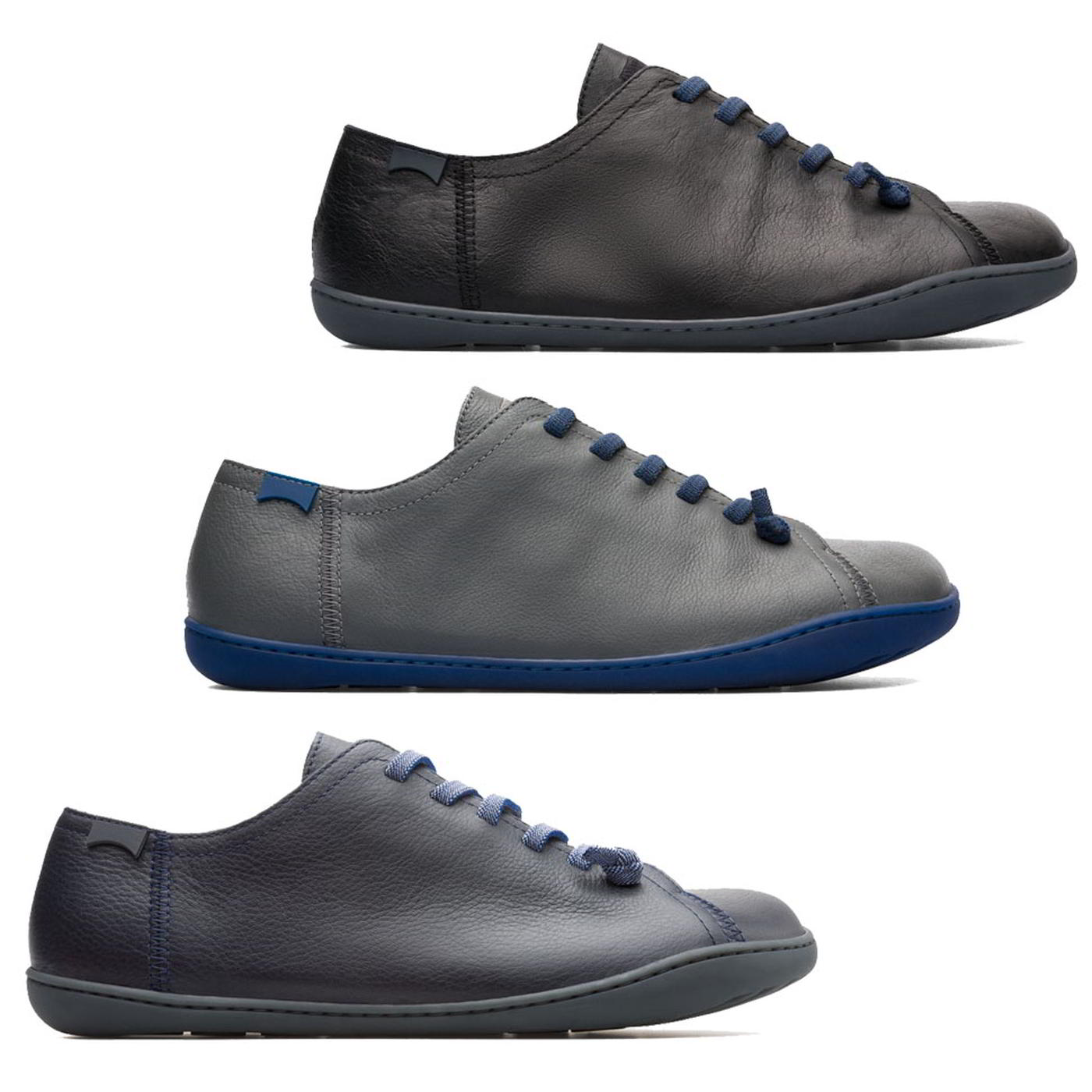 Details about Camper Peu Cami Mens Blue Black Grey Lace Up Leather Shoes Trainers Size UK 7 12